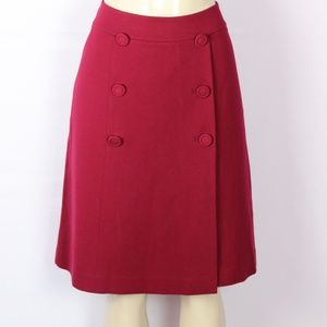 BRAND NEW TALBOTS RED PONTE KNIT ALINE SKIRT 8